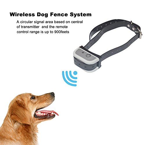 - JUSTPET Wireless Dog Fence Electric Pet Containment System, Safe Vibration/Static Electric Shock Design, C-100 Rechargeable Waterproof Dog Collar Receiver