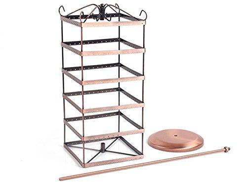 etruke drehbar Jewelry Display Ohrring Bronze Metall Halter Ständer Rack B -