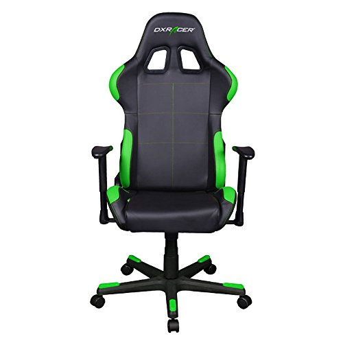 DXRacer Formula Series DOH/FD99/NE Racing Bucket Seat Office Chair Computer Seat Gaming Chair DXRACER Ergonomic Desk Chair Rocker (Black/Green)