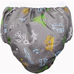 Kushies Potty Taffeta Training Pants - Small - Charcoal Transport