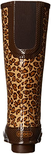 Crocs Womens Leopard Print Tall Boot 37-38EU