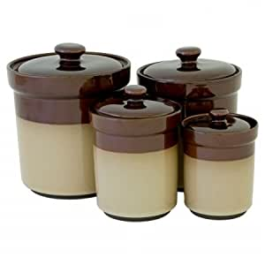 brown and green kitchen sango 4933 316 canister44 brown set of 4933