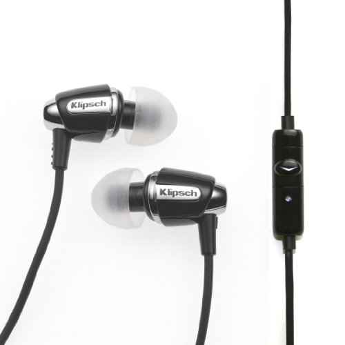 Klipsch Image S4a Android Device Compatible in Ear Headphone with Mic  Black/Chrome