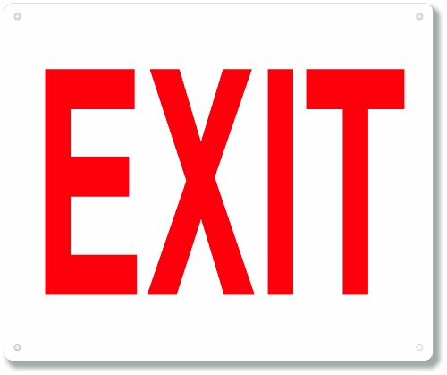Exit Sign - Fire and Safety Signs - 10