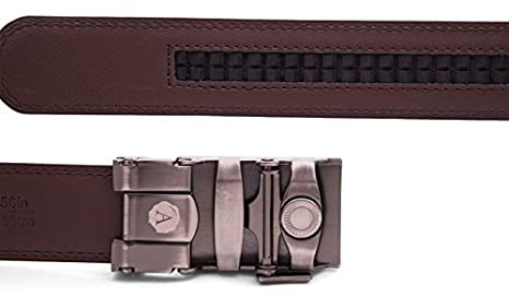 Mens 1.25 Traditional in Rose Gold Buckle with Ratchet Belt Strap Anson Belt /& Buckle