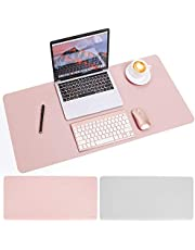 """PB PEGGYBUY Desk Pad Mouse Pad, PU Leather Mouse Pad Mat Waterproof Desk Pad, Perfect Dual Use Desk Writing Mat for Office/Home - 35.4"""" x 15.75"""""""