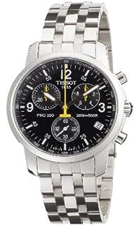 Tissot PRC 200 T1 - Reloj de caballero de cuarzo, correa de acero inoxidable color