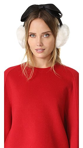 Kate Spade New York Women's Earmuffs with Satin Bow, Light Shale, One Size New York Satin Bow