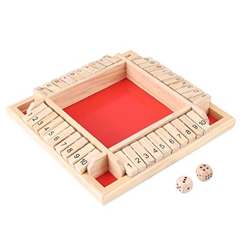Zerodis Educational Wooden Number Board Game Kids Early Learning Traditional Shut the Box Game Drinking Dice Toy Puzzle for Children by Zerodis (Image #6)