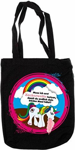My-tagshirt–Organic Fashion Bag–unicorno–�?00% Bio–fairtrade–Nero