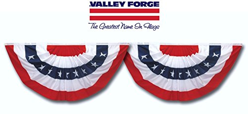 Valley Forge Flag Pmf-2-T Flag, 1.5' x - Pleated Fan Bunting