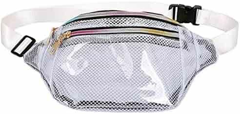 OKMPL Leather Waist Fanny Pack Women Belt Bag Shoulder Chest Pouch Waist Bag for Girls Running Waist Packs