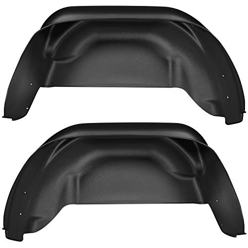 Gmc Fenders Fiberglass - Husky Liners 79021 Black Rear Wheel Well Guards Fits 15-19 Colorado/Canyon