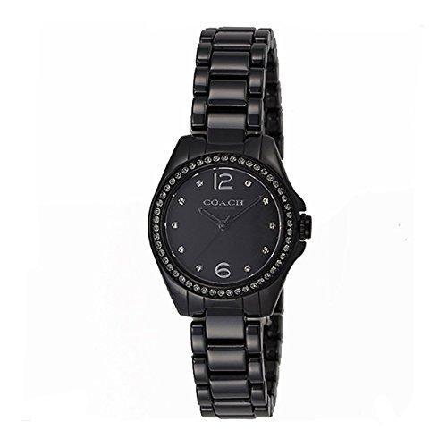 Coach Womens 14502130 Mini Tristen Black Ceramic Glitz Watch