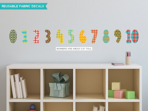 Sunny Decals Numbers Patterns Rainbow