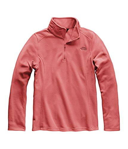 The North Face Women's Glacier ¼ Zip, Spiced Coral, Size XS