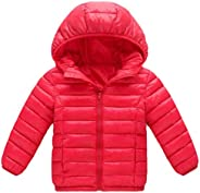 Macondoo-CA Girls Thickened Puffer Cute Quilted Boys Cotton-Padded Down Jacket