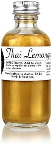 Lemongrass Gold Shimmer Glow Oil | After-Sun Natural Bronzing Moisturizer for Sun-Kissed Skin and Hair