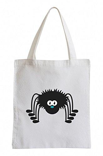 Raxxpurl Carino Spider Fun sacchetto di iuta