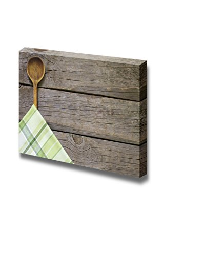Vintage Boards with Wooden Spoon Food Kitchen Concept Wall Decor ation