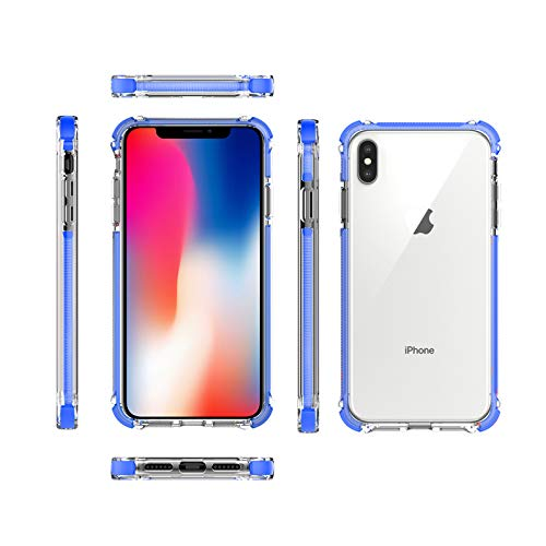 iPhone Xs Max Case Transparent Crystal Clear Slim Hard Pc Back with Soft TPU Bumper Protective Case for iPhone Xs Max 6.5