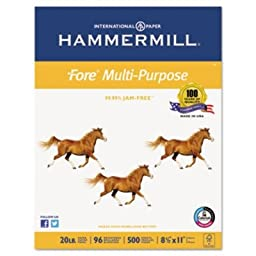Hammermill Products - MP Paper, 20Lb, 8-1/2amp;quot;x11amp;quot;, 96 GE/112 IOS, WE - Sold as 1 CT - Super-premium paper works well in high-speed and low-speed duplicating systems, offset duplicators, dry toner copiers, plain paper fax machines and laser