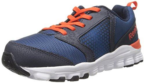 Price comparison product image Reebok Hexaffect 2.0 Wild Running Shoe (Little Kid / Big Kid),  Handy Blue / Faux Indigo / Ultima Orange / White