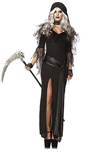 Leg Avenue Women's 2 Piece Sexy Soul Stealer Grim Reaper Costume, Black, Medium/Large