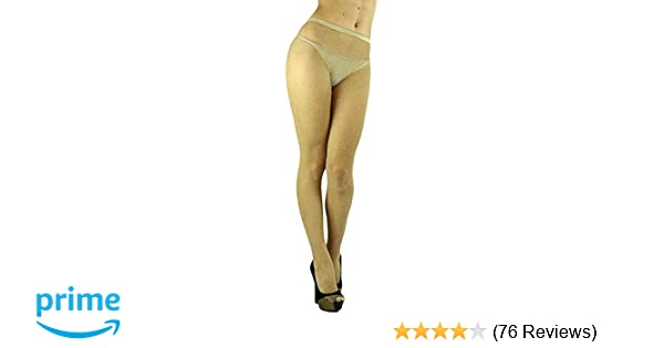 5d09894abbe ToBeInStyle Women s Spandex Seamless Glittery Fishnet Pantyhose Tights  Hosiery