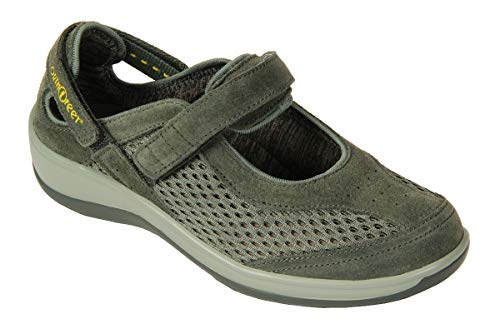 Orthofeet Bunions Plantar Fasciitis Pain Relief Arch Support Orthopedic Diabetic Womens Mary Jane Shoes Sanibel Grey