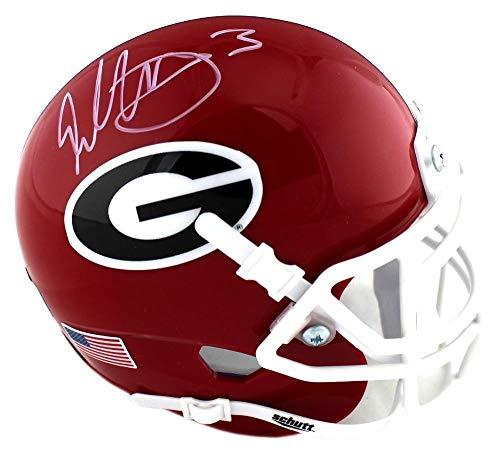 Todd Gurley Signed Georgia Bulldogs Schutt NCAA Mini Helmet - Autographed College Mini ()