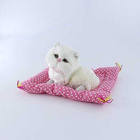 SwirlColor Gatos de Simulación Juguetes de peluche Prensa sonar gatitos Muñecos de peluche Decoración de la