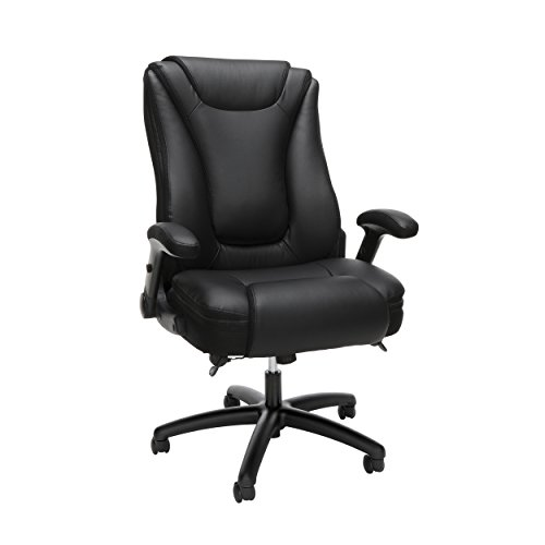 OFM Essentials Series Ergonomic Executive Bonded Leather Office Chair, in Black (Blk Paddle)