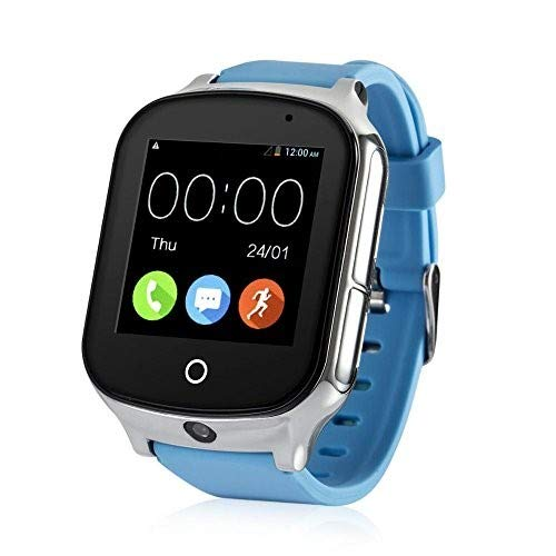 Laxcido 3G WiFi Phone Call GPS Smart Watch, Real-time Tracking SOS GPS Tracker Watch, Geo-Fence Elderly GPS Watch Touch Screen Camera Step Counter Kids GPS Watch SOS Alarm Anti-Lost GPS Watch