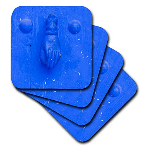 3dRose Danita Delimont - Knockers - North Africa, Morocco, Chefchaouen. Traditional door knocker. - set of 4 Ceramic Tile Coasters (cst_310449_3)