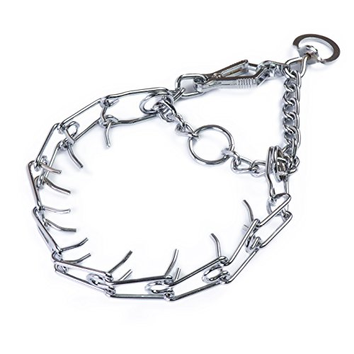 Quiet-Harbor-Chrome-Plated-Steel-Dog-Prong-Training-Collar