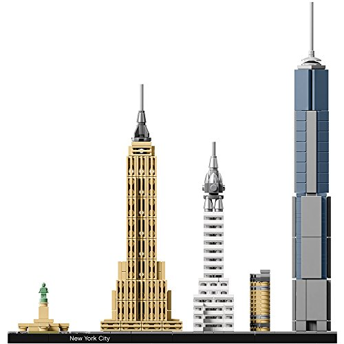 41lhaN4k8mL - LEGO Architecture New York City 21028, Skyline Collection, Building Blocks