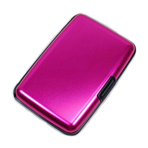 Wallet SALE! RFID Blocking Aluminum Wallet Men Women Credit Card Case SWISS STYLING-Pink