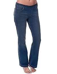PajamaJeans Women's Bootcut Medium Blue Wash Stretch Knit Denim Jeans