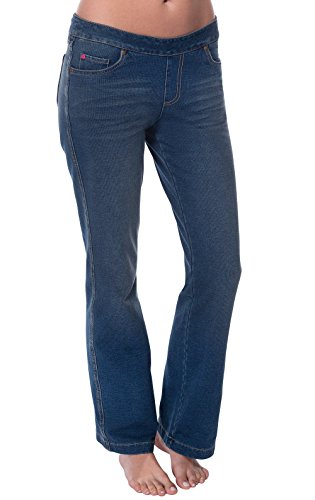 PajamaJeans Womens Petite Bootcut Stretch Knit Denim Jean, Vintage, Medium 8-10