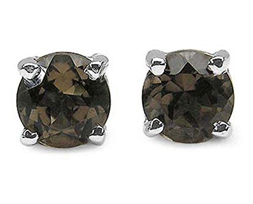 Smoky Quartz Sterling Earrings - 5