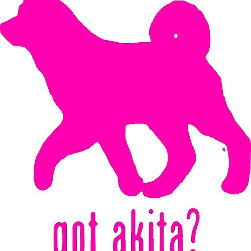 - Animal GOT Akita Dog 1 (Pink) (Set of 2) Premium Waterproof Vinyl Decal Stickers for Laptop Phone Accessory Helmet Car Window Bumper Mug Tuber Cup Door Wall Decoration