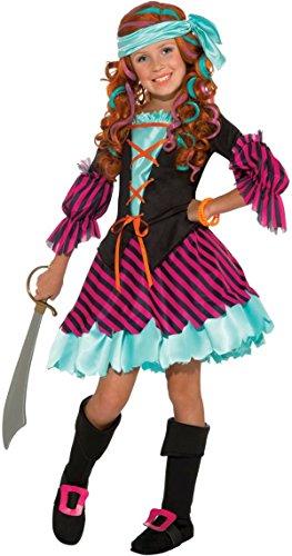 Salty Taffy Kids Costume - (Girl Pirate Makeup Halloween)