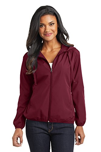 Port Authority Women's Hooded Essential Jacket XL Claret Red