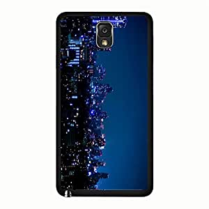 Samsung Galaxy Note 3 n9005 Hard Plastic Case,Fantastic Universal Night scene Phone Case for Girls with Night View Print