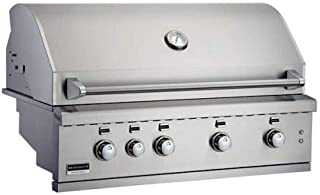 "product image for 42"" SS Built-in Gas Grill w/4 Burner, Work Light and LED Controls - NG"