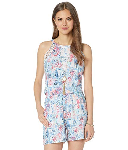 Lilly Pulitzer Women's LALA Romper, Crew Blue Tint Sea to Shining Sea, S from Lilly Pulitzer