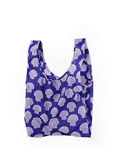 BAGGU Standard Reusable Shopping Bag, Ripstop Nylon Grocery Tote or Lunch Bag, Scallop Shell