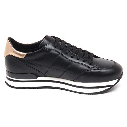 Nero Shoe H Woman H222 E0258 Sneaker cucitura Nero Donna Hogan 4qxtgwnx