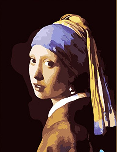 Greek Art Paintworks Paint Color By Number Kit,Johannes Vermeer Girl with a Pearl Earring,16-Inch by 20-Inch by Greek Art